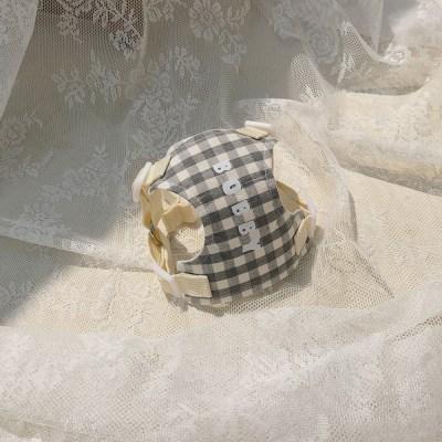 [이름 각인] Macaron harness (deep gray)