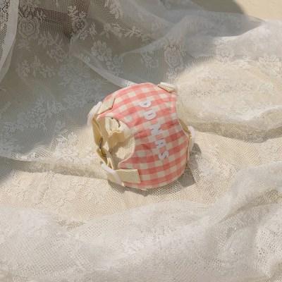 [이름 각인] Macaron harness (Rasberry)