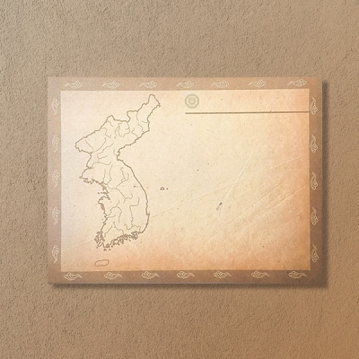 [역사굿즈] 한국사 공부를 위한 지도 빈티지 떡메모지