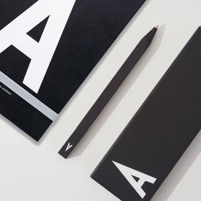 [디자인레터스]덴마크 알파벳문구 3종세트(펜,케이스,노트)