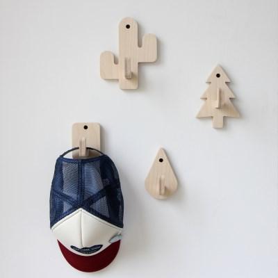 자작나무 디자인 후크(행거)