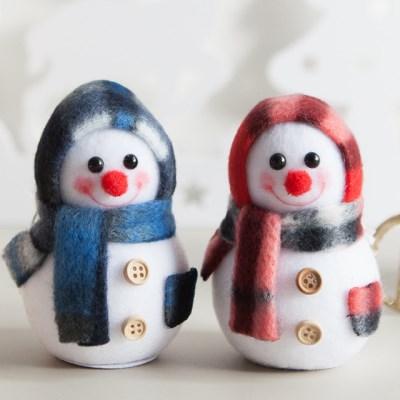 플래드 눈사람 9cm 트리 크리스마스 인형 TRDOLC_(1473878)