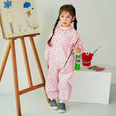 핑크보보 유아 전신미술가운
