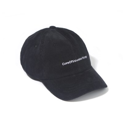 CORDUROY CORE CURVED CAP-BLACK