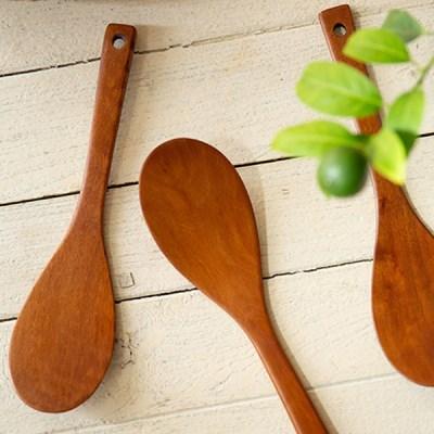대추나무 옻칠 슬림 주걱 (특대) / 나무 스푼 뒤집개 조리도구