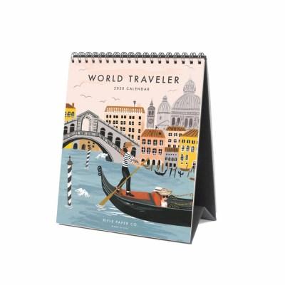 2020 World Traveler Desk Calendar