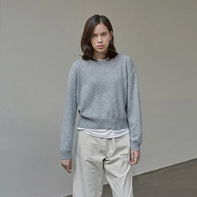 SOFT TOUCH WOOL KNIT_GRAY