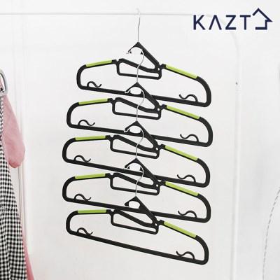 회전고리논슬립옷걸이100개+연결고리20개