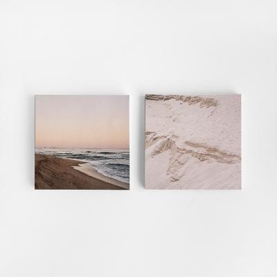 강릉의 겨울 해변 메모지
