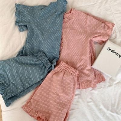 웨이브 레이스 잠옷 세트