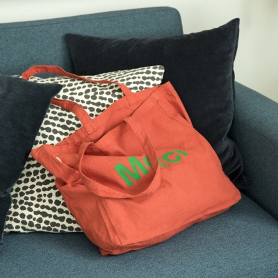 Merci totebag ROUGE (RED)