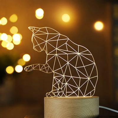 LED 3D 캣 무드등_(1284488)
