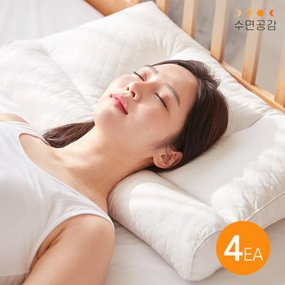 수면공감 우유 베개 기능성 목디스크 거북목 베개 (4EA)_(1227664)