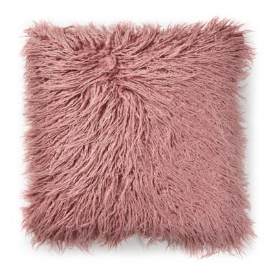 브루드 퍼 쿠션커버 핑크 정사각(45x45)