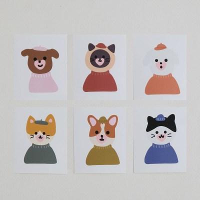 10월 반려동물 시리즈 - 스티커 12종