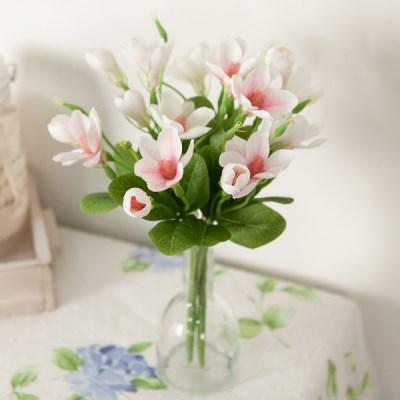 에피샤프란부쉬 33cm  FAIAFT 조화 꽃 인테리어소품_(1511182)