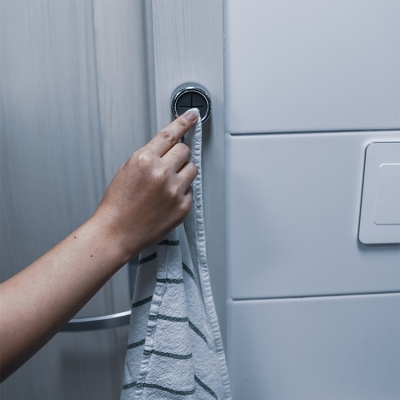 [아토소] 욕실 주방 부착 행주 수건걸이 3P