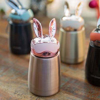 토끼선글라스 텀블러(300ml)(컬러선택) / 원터치 밀폐형 보냉병