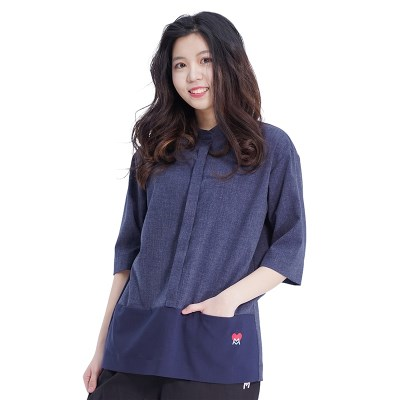 Combi Pocket Shirts (NAVY)_(1410575)