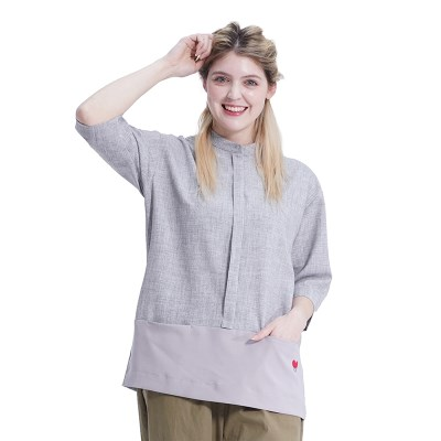 Combi Pocket Shirts (GREY)_(1410574)