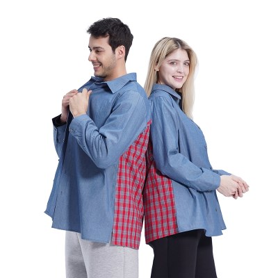 (UNISEX) Blue Color Boxy Shirts_(1410561)
