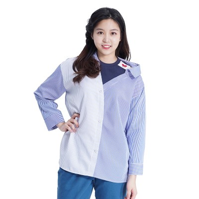 Lovely M Stripe Shirts (BLUE)_(1410560)