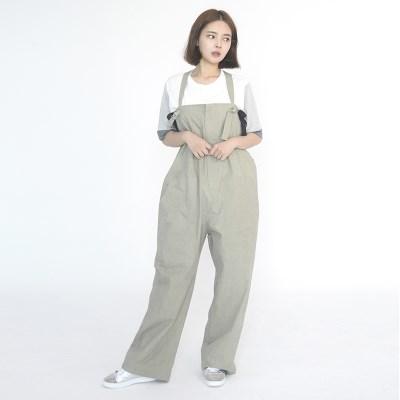 (UNISEX) Wide Overall Pants (KHAKI)_(1410636)