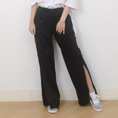 (UNISEX)Velcro-openend Pants (BLACK)_(1410633)
