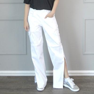 (UNISEX)Velcro-openend Pants (WHITE)_(1410632)
