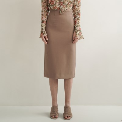 Emery Slit Pencil Skirt_Beige_(17060)
