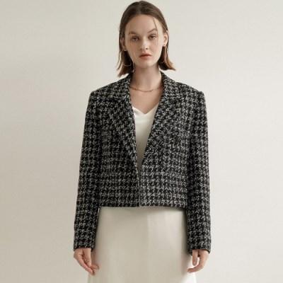 Penny Hounds Tweed Jacket_Black_(17071)