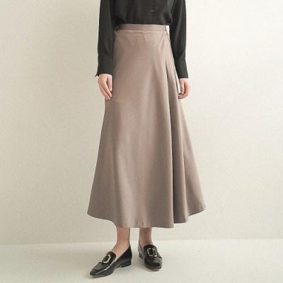 Amy Satin Wrap Skirt_Brown_(17058)