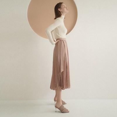 Heidi Pleats Skirt_Beige_(17095)