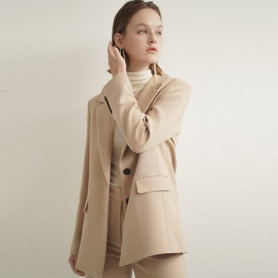 Jude Classic Belted Jacket_Beige_(17093)