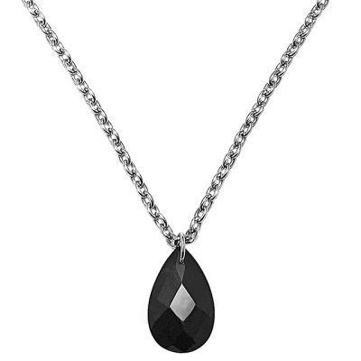 [MARK-4] NECKLACE BLACK POLKA