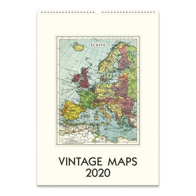 2020 카발리니 캘린더 Vintage Map