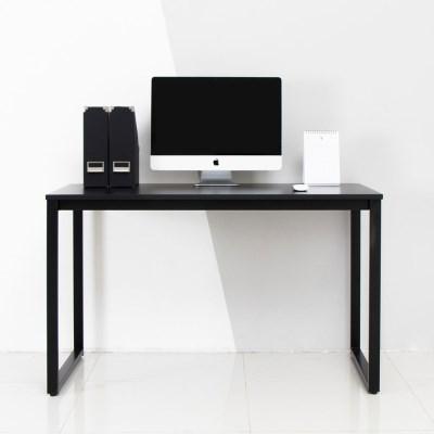디어 1200 입식 컴퓨터 책상 블랙 철제 노트북 게이밍 PC방 테이블