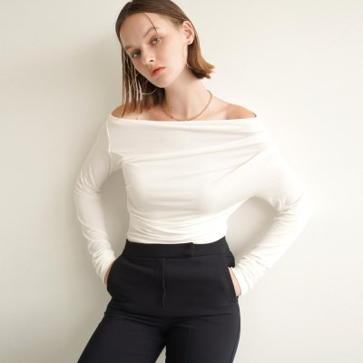 Rosen Drape Long Sleeve_White_(17051)