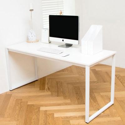 디어 1500 입식 컴퓨터 책상 화이트 철제 노트북 테이블