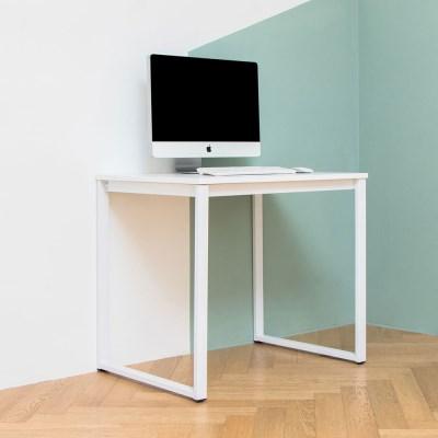 디어 800 입식 컴퓨터 책상 화이트 철제 노트북 테이블