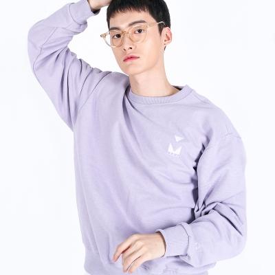 (UNISEX)950g Heavy Embroidery Sweatshirt(VIOLET)