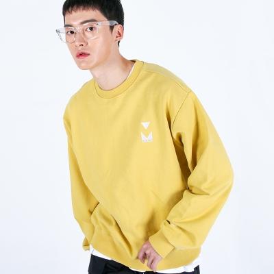 (UNISEX)950g Heavy Embroidery Sweatshirt(YELLOW)