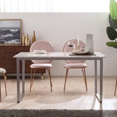 엠마 대리석 4인용 식탁 테이블 1400 (리퍼브 가구)_(2186261)