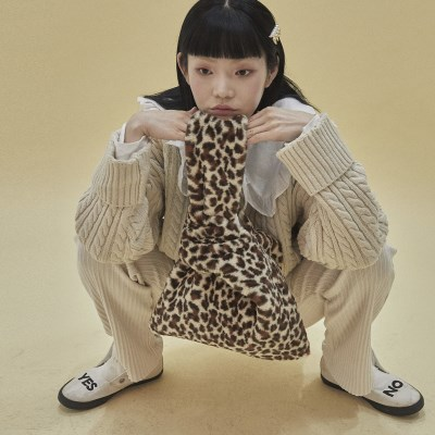 Eco fur bag_leopard