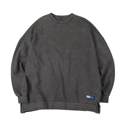 라벨 로고 피그먼트 스웨트셔츠 (챠콜)