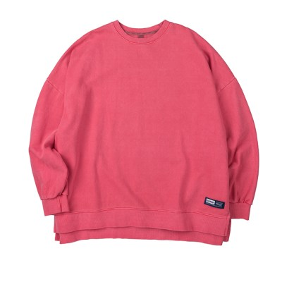 라벨 로고 피그먼트 스웨트셔츠 (핑크)