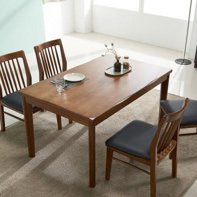 잉글랜더 트로이 고무나무 원목 4인용 식탁(의자 미포함)