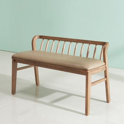 잉글랜더 아모스 고무나무 원목 2인용 벤치의자