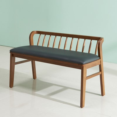 잉글랜더 트로이 고무나무 원목 2인용 벤치의자