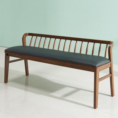 잉글랜더 트로이 고무나무 원목 3인용 벤치의자